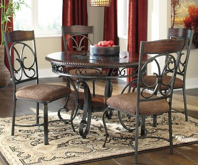 GLAMBREY OLD WORLD 5 PC DINING SET