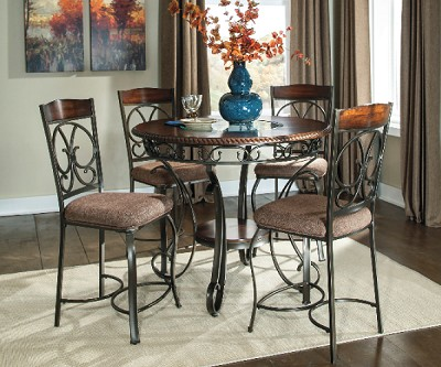 GLAMBREY OLD WORLD COUNTER HEIGHT DINING SET