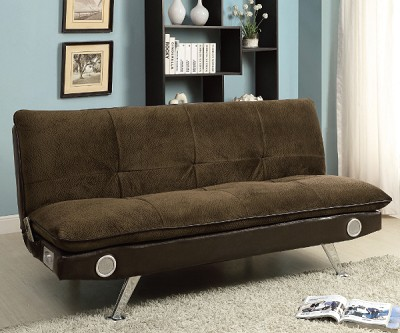 Gallagher Brown Studio Sofa Bed Futon With Built In Sound System