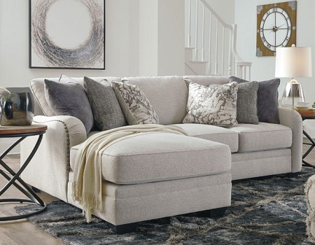 DELLARA CHALK SECTIONAL CHAISE BY ASHLEY