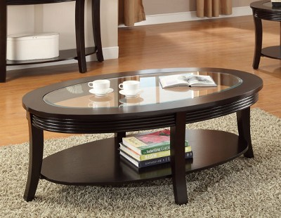 SIMONE GLASS INLAY COFFEE TABLE