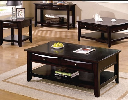 BALDWIN ESPRESSO WOOD COFFEE TABLE