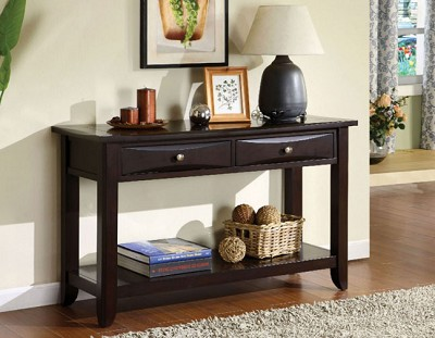 BALDWIN ESPRESSO WOOD CONSOLE TABLE
