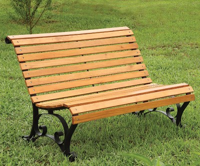SEDONA OAK FINISH OUTDOOR PARK BENCH