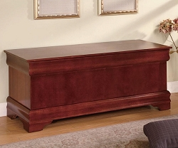 LOUIS PHILIPPE CHERRY FINISH CEDAR CHEST