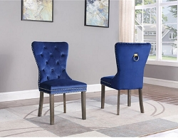 DIVANTE BLUE VELVET TUFTED DINING CHAIR