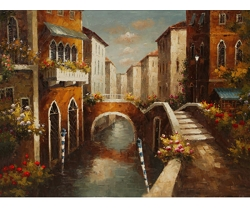 RIVER ARCH HAND PAINTED OIL PAINTING