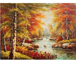 QUITE STREAM HAND PAINTED OIL PAINTING