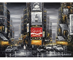 TIME SQUARE BY NIGHT II HAND PAINTED OIL PAINTING