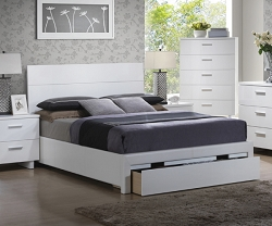 LINDA WHITE BED WITH LARGE UNDER DRAWERS
