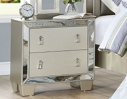 UPTOWN GLAMOUR SILVER MIRROR NIGHT STAND