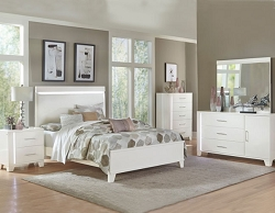KERREN CONTEMPORARY WHITE BEDROOM SUITE
