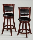 CECIL WOOD SWIVEL BAR STOOL