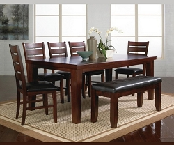BARDSTOWN WALNUT 6 PIECES DINING SET