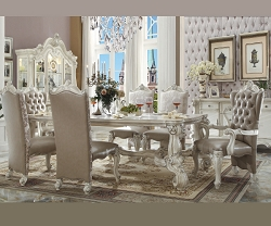 VERSAILLES COLLECTION BONE WHITE FORMAL DINING SET