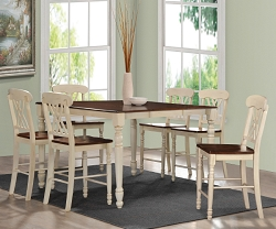DYLAN BUTTERMILK AND OAK FINISH COUNTER HEIGHT DINING SET