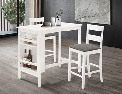 CINDY WHITE WOOD COUNTER HEIGHT DINING SET