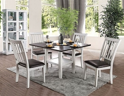 RAE COTTAGE WHITE SQUARE DINING SET