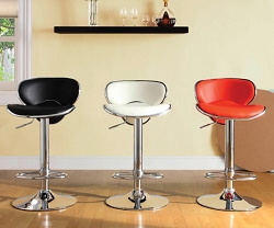 RIDE AIR LIFT SWIVEL COUNTER HEIGHT BAR STOOL - A PAIR