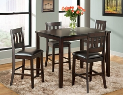 AMERICANO 5 PACK COUNTER HEIGHT DINING SET