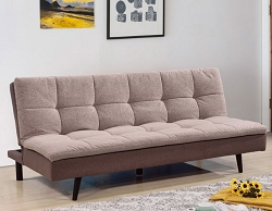 LIGHT BROWN PILLOW TOP FUTON WITH REMOVABLE WASHABLE COVER