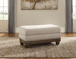 HARLESON WHEAT OVERSIZED RECTANGLE OTTOMAN