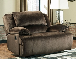 CLONMEL CHOCOLATE MICROFIBER OVER SIZE ZERO WALL RECLINER CHAIR