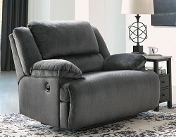 CLONMEL CHARCOAL MICROFIBER OVER SIZE ZERO WALL RECLINER CHAIR