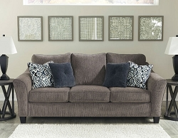 NEMOLI SLATE QUEEN MEMORY FOAM SOFA SLEEPER BY ASHLEY