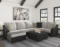 BILGRAY PEWTER SECTIONAL CHAISE BY ASHLEY