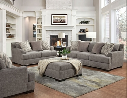 OLYMPIA CHATHAM GRANITE POCKET COIL SEATING SOFA AND LOVE SEAT COLLECTION
