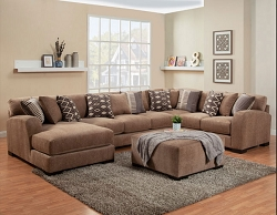 WESTLY BRITNEY LARK GEL FOAM SEATING L SHAPE SECTIONAL CHAISE