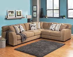 WESTLY CAMEL GEL FOAM SEATING L SHAPE SECTIONAL