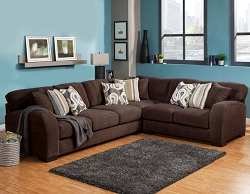 WESTLY CHOCOLATE GEL FOAM SEATING L SHAPE SECTIONAL