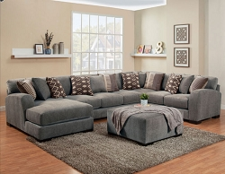 WESTLY BRITNEY GULL GEL FOAM SEATING L SHAPE SECTIONAL CHAISE
