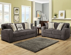 WESTLY SMOKE GEL FOAM SEATING SOFA AND LOVE SEAT COLLECTION