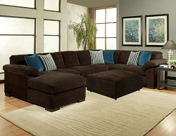 FIREFLY CHOCOLATE L SHAPE SECTIONAL CHAISE