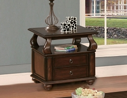 AMADO WARM WALNUT END  TABLE