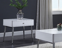 WEIZOR WHITE HIGH GLOSS SQUARE END TABLE