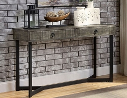 VEBLEN INDUSTRIAL GRAYISH BROWN SOFA CONSOLE TABLE