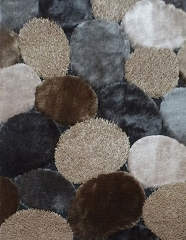 VISCOSE SHAGGY DESIGN 25 GRAY BROWN AREA RUG