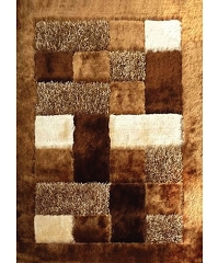 VISCOSE SHAGGY DESIGN 30 BROWN AREA RUG