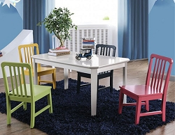 CASEY 5 PIECE RECTANGLE TABLE AND CHAIRS PLAY SET