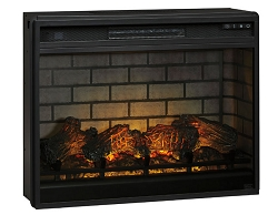 FAUX FIREBRICK 31 INCHES FIREPLACE INSERT WITH HEATER