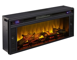 FAUX LOG 43 INCHES FIREPLACE INSERT WITH HEATER