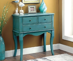 SIAN ANTIQUE TEAL ACCENT HALLWAY CABINET
