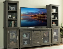 INDUSTRIAL CHARMS  GREY WITH 64 INCHES TV WALL UNIT