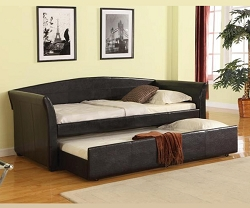 MEYER BLACK BI CAST DAY BED WITH TRUNDLE