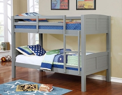 SYNC GREY TWIN TWIN CONVERTIBLE WOODEN BUNK BED