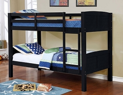 SYNC BLACK TWIN TWIN CONVERTIBLE WOODEN BUNK BED